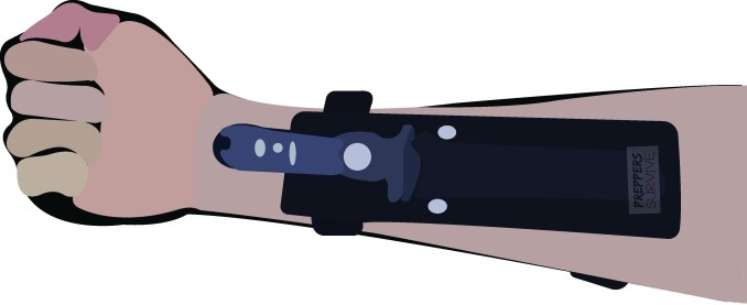 Where to Hide Blades - Arm Sheath - 6 Common Places to Conceal a Knife - Forearm Blade