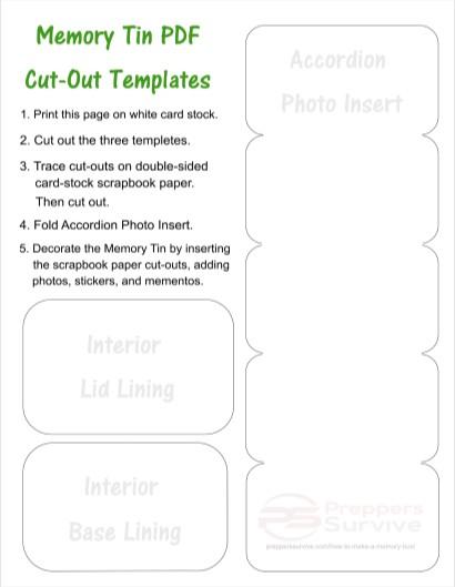 How to make a memory box - the memory box pdf template
