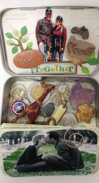 Thrive and Not Just Survive - Memory Tin - Altoids Can - Photo Tin Kit
