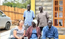 Mission co-worker Rachel Weller with four Mekane Yesus CHE interns in Kenya