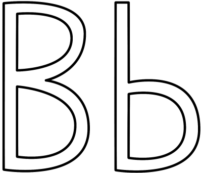 Letter B Coloring Pages - Preschool and Kindergarten
