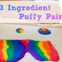 Puffy Paint Recipe on Canvas Art