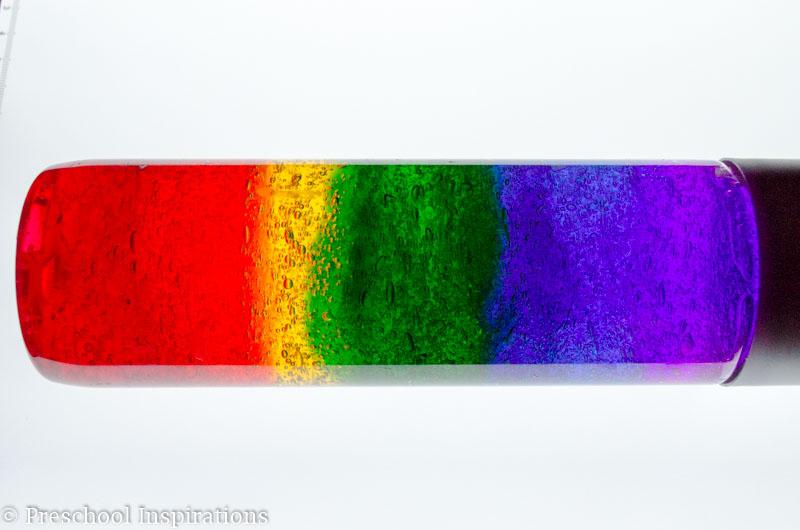 Rainbow Discovery Bottle - Preschool Inspirations-5