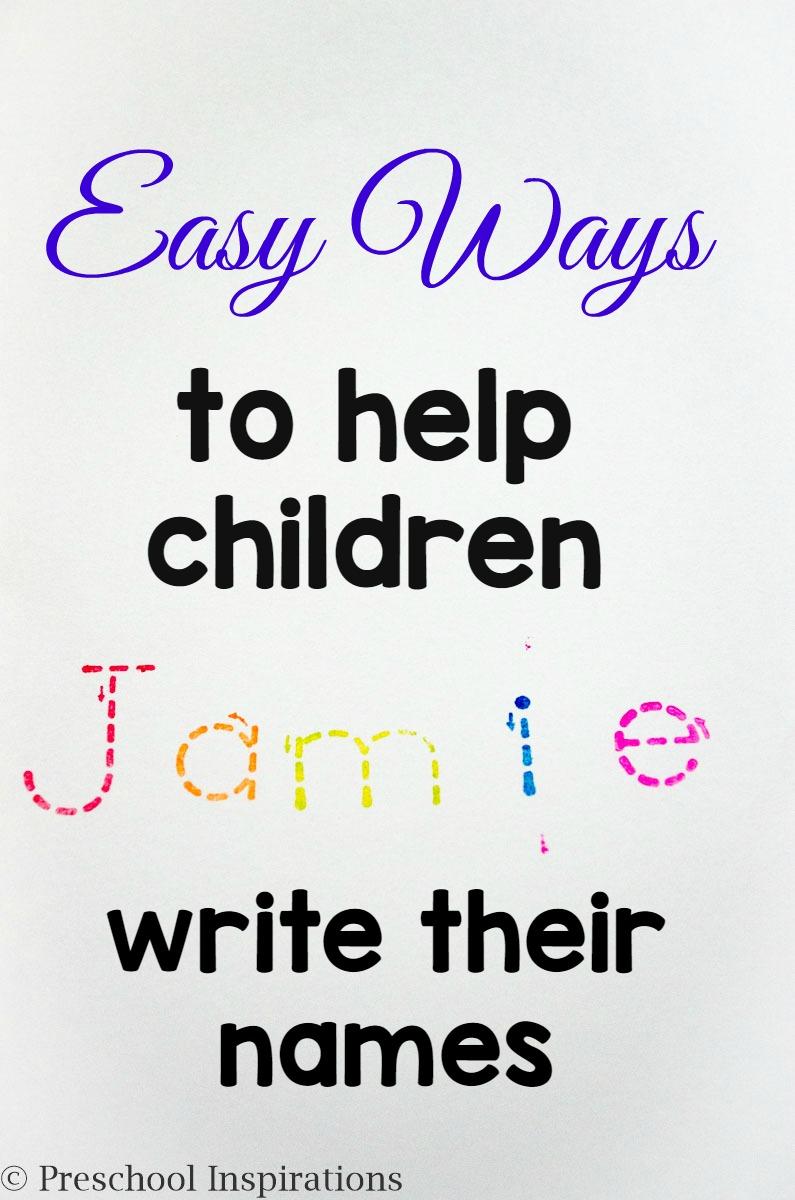 Preschool Name Writing Practice Ideas