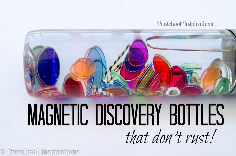 Rust Resistant Magnetic Discovery Bottle - Preschool Inspirations