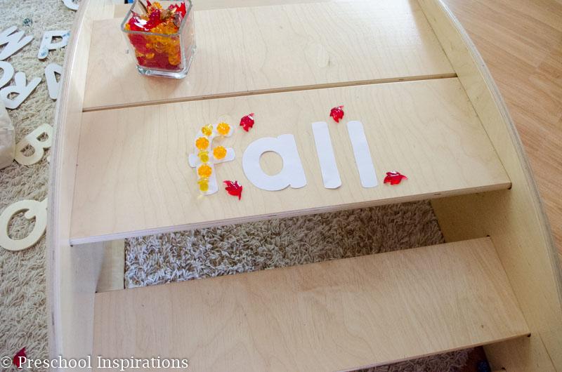 Fall Alphabet Jewel Fine Motor Practice - Preschool Inspirations-14