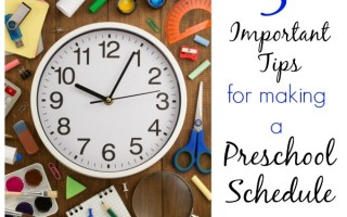 5 Must-Haves for Making a Great Preschool Schedule