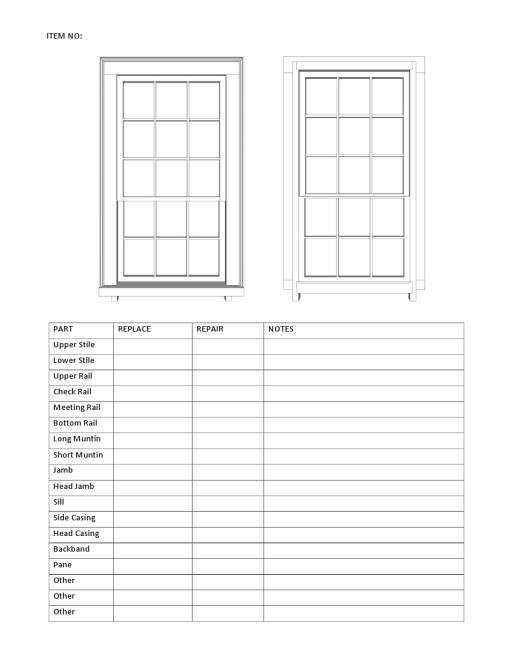 Window Disassembly sheet