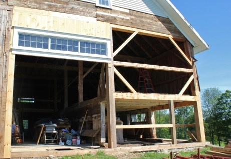 Barn front gable, rebuilt in place