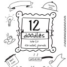 12 doodles how to for Bullet Journals - Press Print Party!