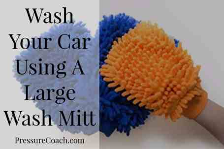 Wash Your Car Using A Large Wash Mitt
