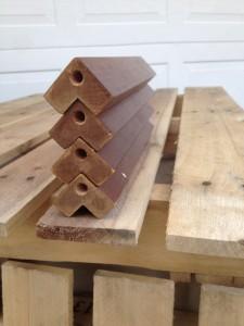 bench legs metal screw inserts