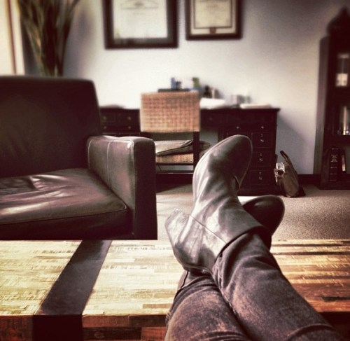 Waiting in my psychiatrist's office