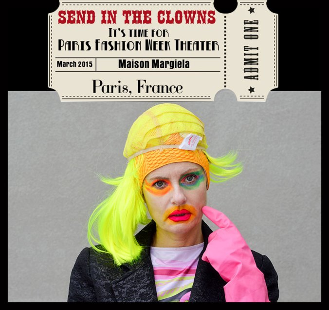 Paris Fashion Week Circus Theater - Pretty Cripple dressed as Maison Margiela models