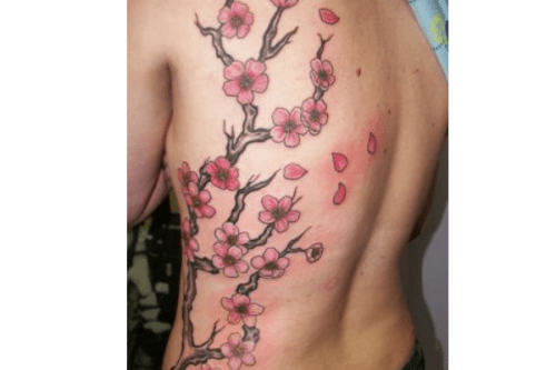 Cherry Blossom Tattoos on the Side