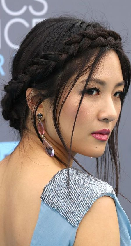 Constance Wu Crown Braid