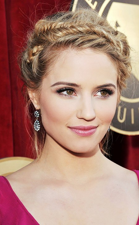 Dianna Agron Crown Braid