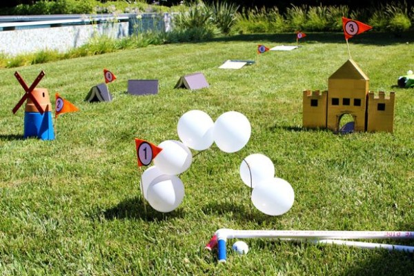 Mini Golf Course, 25 Best Backyard Birthday Bash Games