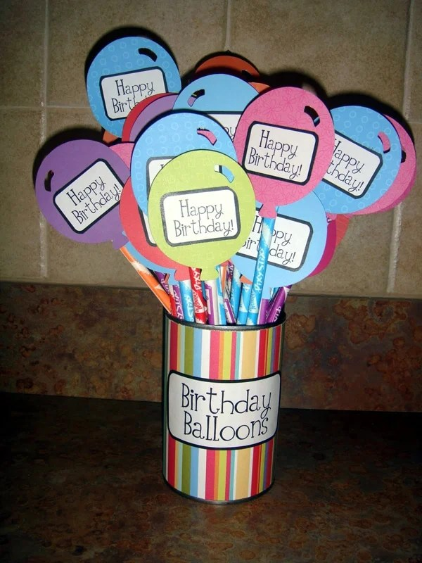 Balloon Candy Favors | Budget Birthday Favors via Pretty My Party