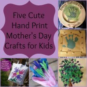 Five Cute Hand Print Mother&#039;s Day Crafts for Kids