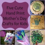 Cute DIY Hand Print Mothers Day Crafts