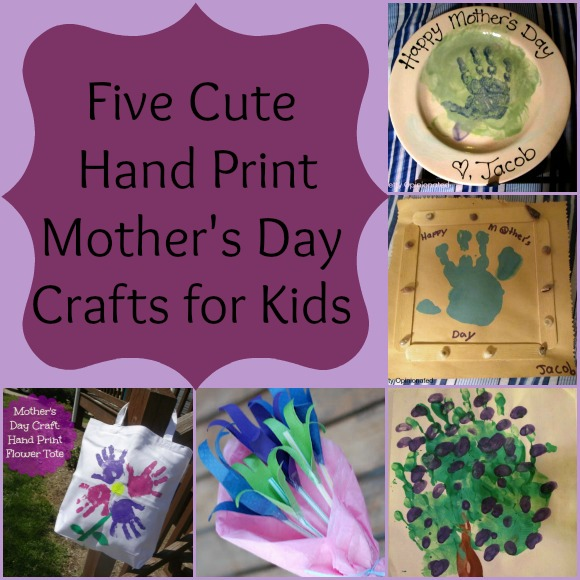 Five Cute Hand Print Mother's Day Crafts for Kids