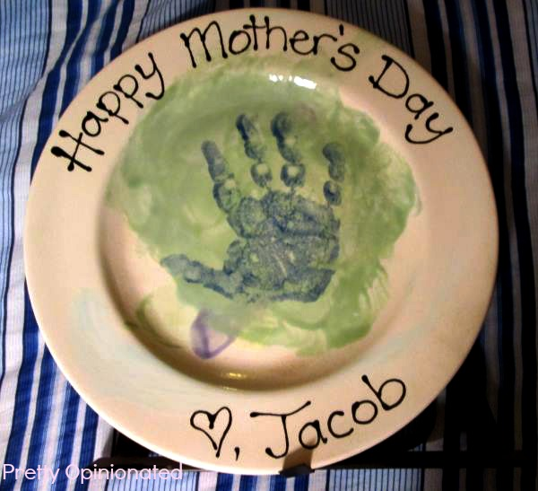 Mother's Day Craft: Hand Print Plate