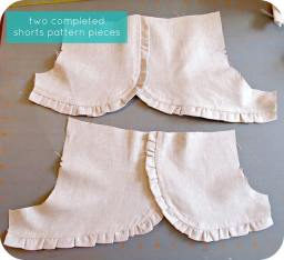 14_12 completed shorts pattern pieces
