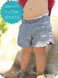 17_denim ruffle shorts