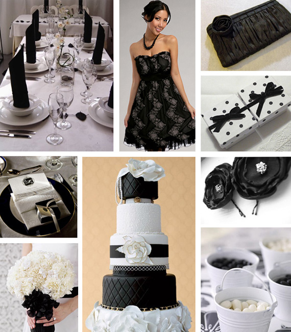 Black and white wedding - primadonnabride