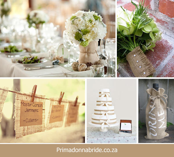 Hessian wedding ideas