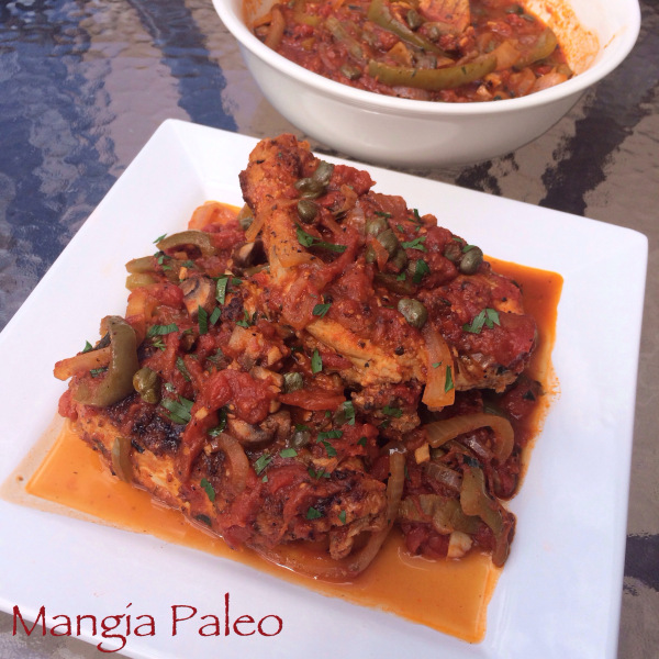 Paleo Carla's Veggie-Loaded Chicken Cacciatore