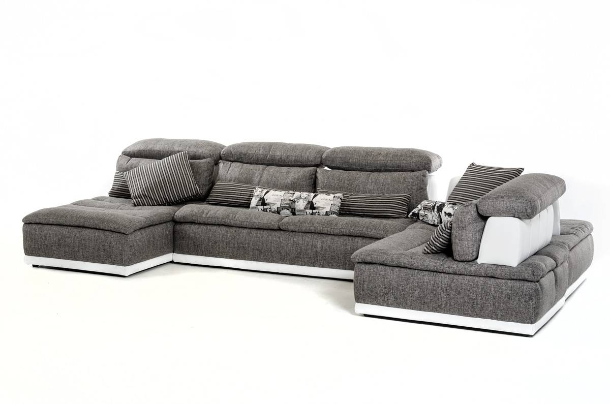Fullsize Of White Leather Sectional