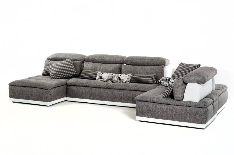 Large Of White Leather Sectional