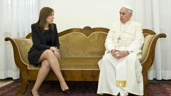 Vidal con el Papa