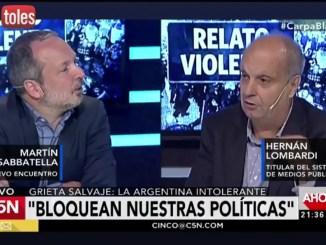 Debate Sabbatella-Lombardi
