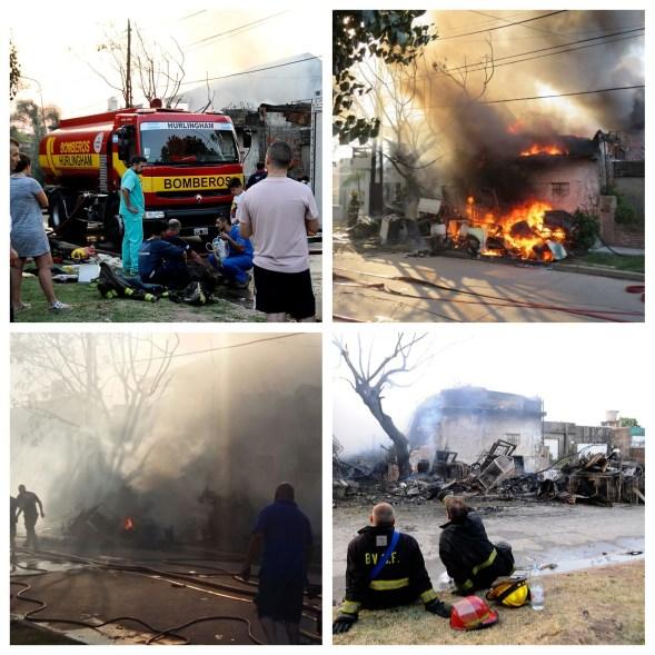 Los bomberos trabajaron arduamente en el lugar para controlar el fuego. Lograron mitigarlo y rescatar a los moradores de la vivienda incendiadas y las propiedades vecinas.