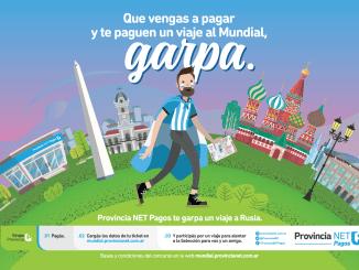 Campaña 2018 de Provincia Net: después de pagar los impuestos, se carga un código en la web a la espera del sorteo para viajar a Rusia.