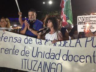 Marcha de antorchas en Ituzaingó