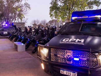 Policías motorizados Morón