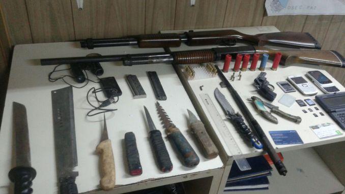 Armas secuestradas