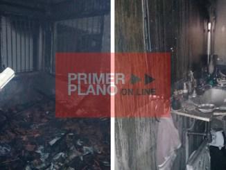 Vivienda incendiada en Hurlingham