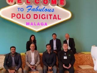 En Málaga, la comitiva visitó el Polo Digital, un espacio considerado como referente para el desarrollo de juegos electrónicos