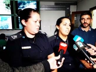 Policías que encontraron a nena en Hurlingham