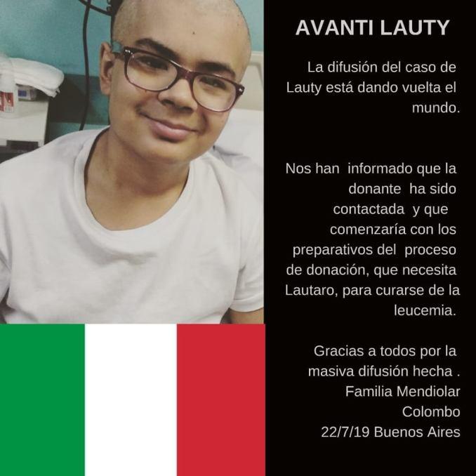 Lautaro donante en Italia
