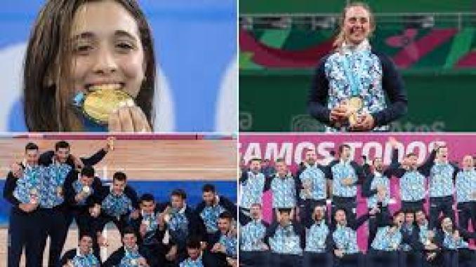 Las caras y las medallas de algunos de los jóvenes atletas argentinos que hicieron historia en los Panamericanos de Lima