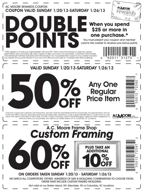 Snazzy Ac Moore Coupon Codes Printable Coupons Online Ac Moore ...
