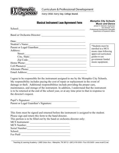 Free Printable Loan Agreement Form Form (GENERIC)