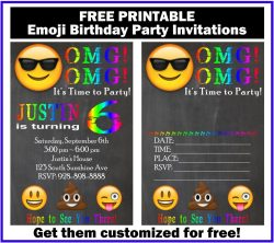 Relieving Free Customized Emoji Invitations Birthday Printables Emoji Birthday Invitations To Print Emoji Birthday Invitations Nz Up This Emoji Birthday Party Invitation