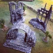 Roman Ruins 3D Printed